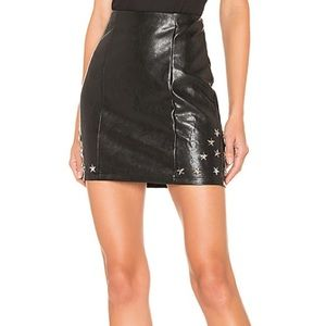 NEW By the Way X REVOLVE Nikki Faux Leather Skirt